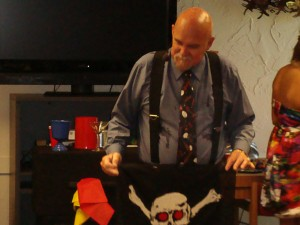 Mr. E and his pirate flag.