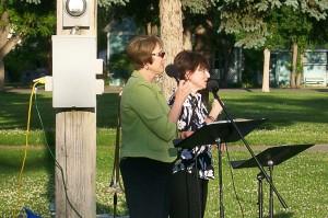 Terri Miller and Lu Anne Hoch