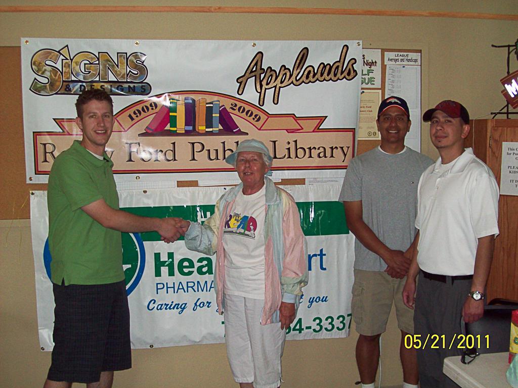 1st annual golf tournament. Ky Harris, Sheila Henry, Andy Medina, and Brian Medina.