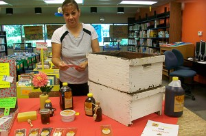 Hidden Honey July 19-July 24, 2010; Cory & Cindy Kreft display their business, Hidden Honey